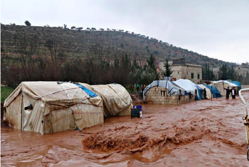 Photo of Flooded Camp in N Syria