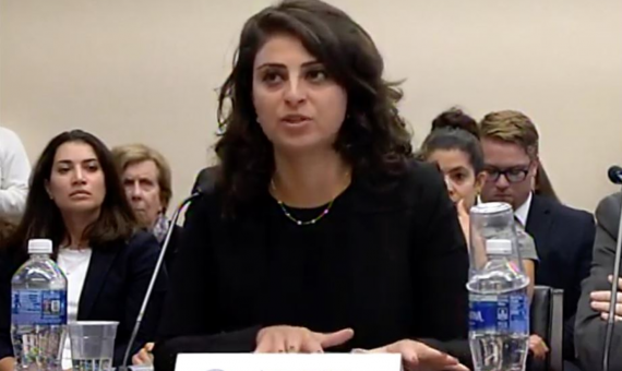 Jomana Qaddour testifies before Congress on the ongoing humanitarian crisis in Syria